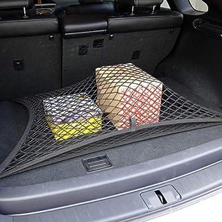 kaaka Suporte universal para bagageiro de carro, organizador de carga traseiro, suporte de rede de malha elástica, 4 ganch...