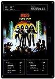 CDecor Kiss&Uml; Love Gun Blechschilder, Metall Poster,