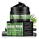 Maschera di comedone,Black Mask,Blackhead Remover Mask,Mascarilla Exfoliante Facial,Purifying Peel Off Máscara Remove Acné,Deep Cleansing Bambú Máscara Negra 120g