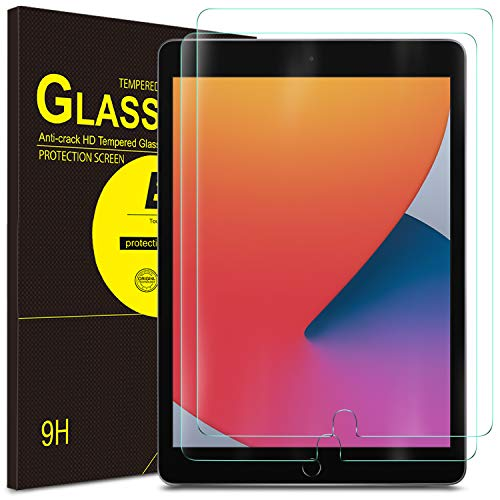 ELTD Screen Protector for iPad 8 (10.2-Inch 2020 Model, 8th Generation)/ iPad 7 (10.2-Inch 2019 Model, 7th Generation)/ iPad Air 3 (10.5 Inch 2019 Model), Tempered Glass Film, 2 Packs