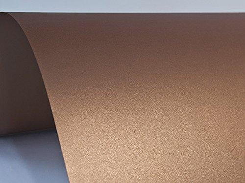 10x Blatt Perlmutt-Kupfer 125g Papier DIN A4 210x297mm, Sirio Pearl Copperplate, ideal für Hochzeit, Geburtstag, Taufe, Weihnachten, Einladungen, Diplome, Visitenkarten, Grußkarten, Scrapbooking