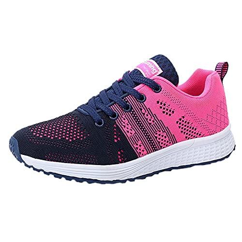 YOUQQI Laufschuhe Damen Turnschuhe Sportschuhe Leichtgewichts Atmungsaktiv Sneaker Straßenlaufschuhe Frauen Freizeitschuhe für Hallen Outdoor Fitnessschuhe Kletterschuhe Trekking