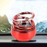 Automaze Solar Power Rotating Car Air Freshener Perfume, with Organic Fragrance (Red(Plastic))