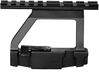 Fidragon Tactical Scope Mount Quick Release 20mm Side Rail Lock Scope Mount Base for Rifle Hunting&CS Battle