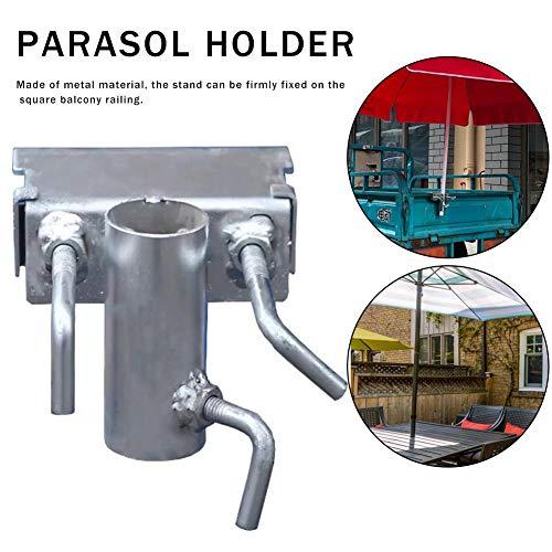 N/W Support Parasol Balcon, Support pour Table Parasol Accessoires, Support de Parapluie pour Table de Balcon, Support à Parasol Fixation de Parasol, pour Balcon barrière Garde-Corps métal