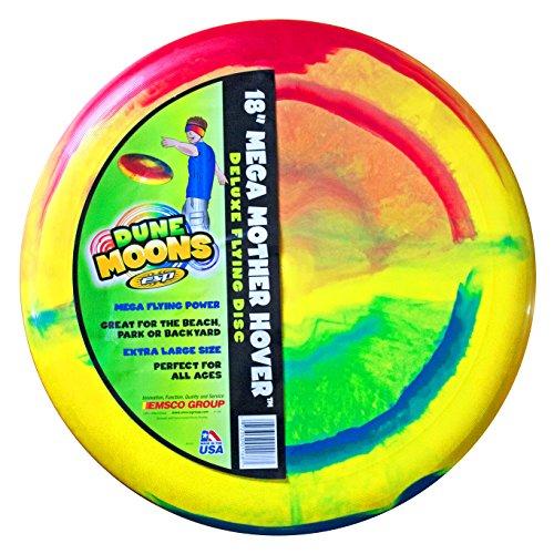 Emsco Group ESP Dune Moons Deluxe Aerodynamic Flying Discs - MEGA Mother Hover Super Sized 18 Diameter Large Flying Disc Frisbee