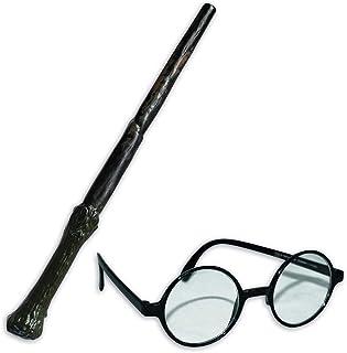 Harry Potter Wand + Glasses Boys Fancy Dress Book Week Kids Childrens Costume