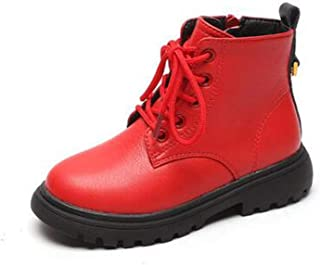 SF Children's Shoes, Children's Martin Boots Warm Cotton Boots, Winter New Girls' Boots, Leather and Velvet Ankle Boots