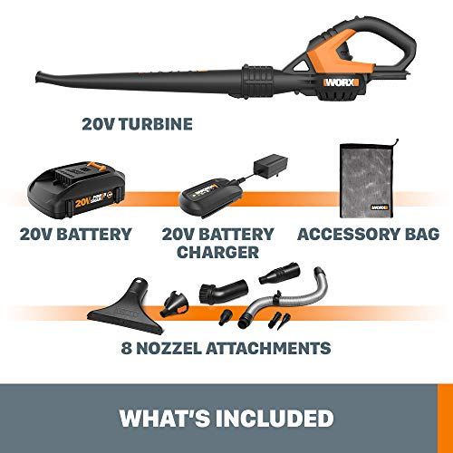 WORX WG545.1 20V Max Lithium Cordless AIR Blower/Sweeper, battery included