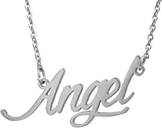 Personalized Nameplate Necklace Pendant My Name Custom of Stainless Steel for Women/Men Gift