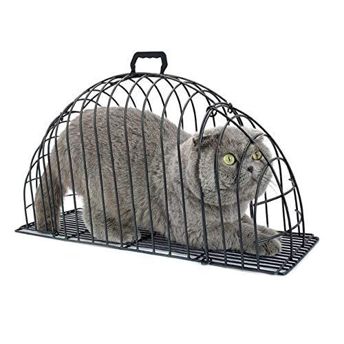 Gabbia da bagno per gatti multifunzionale a doppia porta Gabbia per gatti ad iniezione anti graffio o morso Recupero in metallo Grooming Lavaggio gabbia