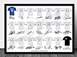 Leeds United Full Squad Team signiert gedruckt Autogramme