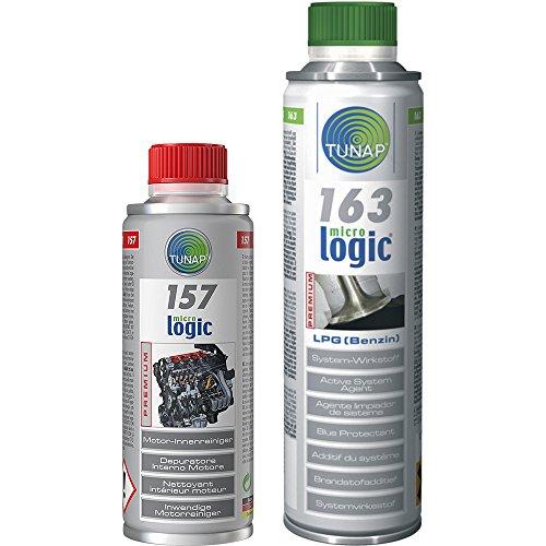 TUNAP Kit 163 157 - Kit additivi per iniettori Benzina nei Veicoli ad Alimentazione Doppia e Pulizia dell'impianto di lubrificazione.