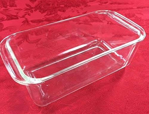 PYREX 215 Deep Glass Baking Pan/Dish, Clear, 9' x 5'W, 3 1/4' w/Handle