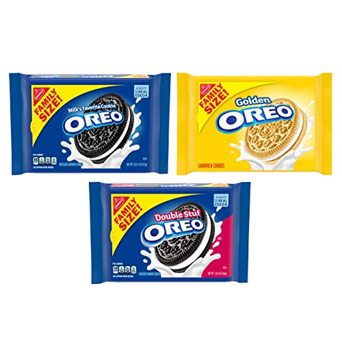 OREO Original, Double Stuf & Golden Sandwich Cookies Variety Pack, Family Size, 3 Packs