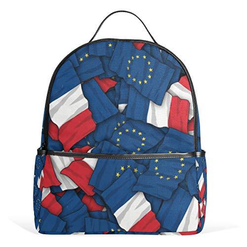 Europäische Union (EU) Finnland Flagge Rucksack für Herren Damen Rucksack Tasche College Daypacks Teenager Reisetasche Casual Daypack für Reisen
