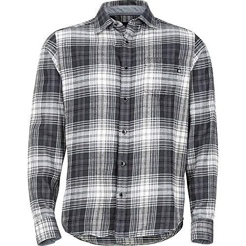 Marmot Fairfax T-Shirt à Manches Longues en Flanelle pour Homme Gris Ardoise Taille S