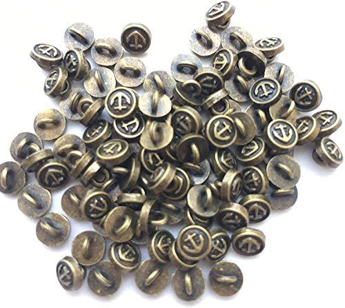 約5mm ブロンズ色マリン・イカリ 丸ボタン80個 極小 小さめ ハンドメイド材料 デコ材料 ドール用 人形用