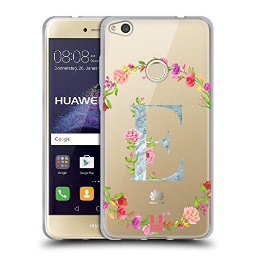 Head Case Designs Letra E Iniciales Decorativas Carcasa de Gel de Silicona Compatible con Huawei P8 Lite (2017)