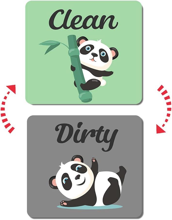 Umtiti Bamboo Bargain Panda Clean Dirty Dishwasher Magnet Lau Over item handling for Sign
