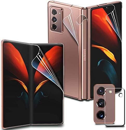 GOBUKEE [4+1] (mit Scharnierschutz) Schutzfolie für Samsung Galaxy Z Fold 2 5G + panzerglas für camera lens TPU Bildschirmschutzfolie für Galaxy Z Fold2 [Kein panzerglas] (N)