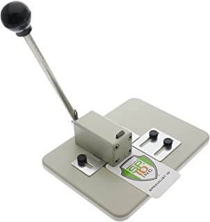 Heavy Duty Table Top Slot Punch for ID Card Badges with Precision Adjustable Top & Side Slide Guides by Specialist ID