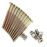 10 piezas M6 pernos de acero al carbono para muebles con tuercas cilíndricas, cierre de conector de tuerca, acabado liso (40 mm)