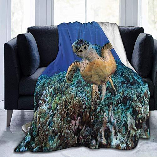 Manta de forro polar ultrasuave para adultos, manta de forro polar, diseño abstracto, a rayas, hojas y puntos, suave y cómoda, manta de sofá de 152 x 127 cm