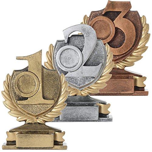 pokalspezialist KDS Pokal Set PRAG je 1x Platz 1 2 3 Zahl Ziffer Sieger Trophäe Keramik 250g