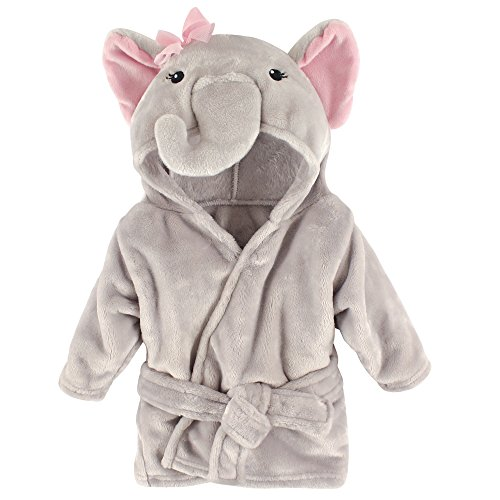 Hudson Baby Animal Plush Bathrobe, Pretty Elephant, 0-9 meses