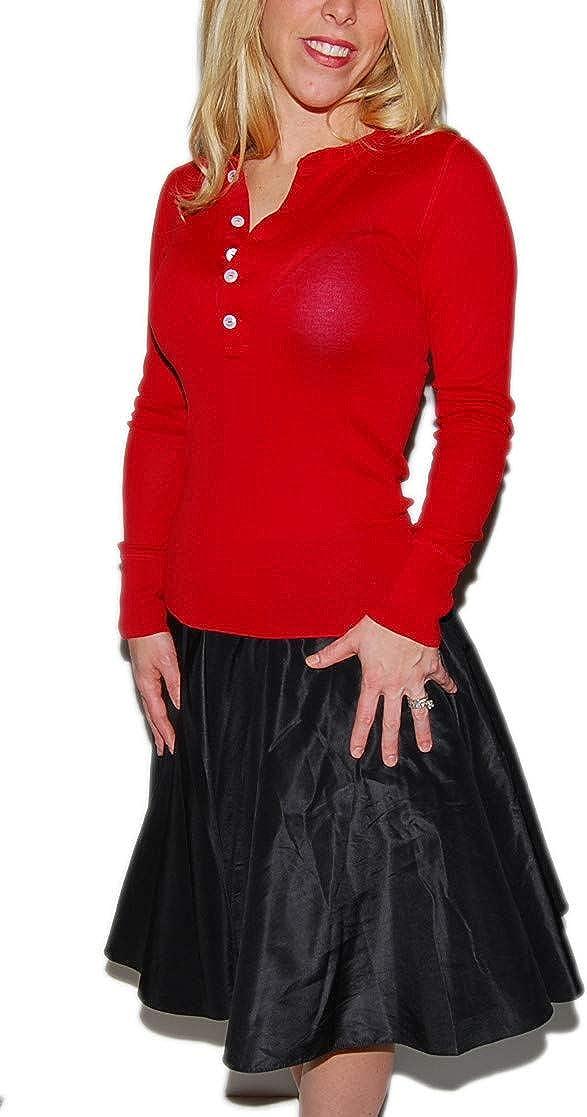 Ralph Lauren Polo Black Label Womens Silk Black Pleated Knee Length Skirt