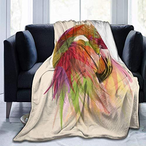 Suzanne Betty Flamingo-Mark-ashkenazi - Manta de forro polar, manta de franela mullida para el cuarto de bebé, ropa de cama, decoración de cama, tamaño Queen King, suave y acogedor
