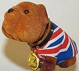 Union Jack Car Nodding Dog - Small British Bulldog - 10cm x 9cm