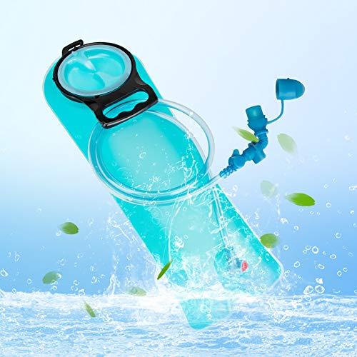 Bolsa De Hidratación 2.5L,Guiseapue Mochila Hidratación Portátil,Bolsa de Agua con Sistema de Auto-Bloqueo y Apertura Grande para Ciclismo,Senderismo,Carrera,Escalada,Camping