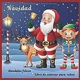 Navidad - Libro de colorear para niños - Mandalas felices (¡Feliz Navidad!)