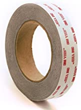 """CS Hyde 3M 4941 Very High Bond Conformable Acrylic Foam Tape, Double-Sided VHB Acrylic Adhesive, Liner, 45 mil Thick, Dark Grey, 2"""" Width, 5 Yard Roll"""