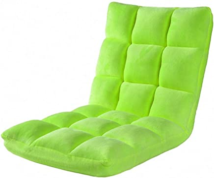 AEURX Cozy Lazy couch folding tatami single small sofa bed leisure floating window chair Folding chair outdoor  Color Green