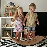 【LR.store】 木製バランスボード 踏み台 子供向け スピン ロック スライド 乗用玩具 アウトドア トレーニング ストレッチ ヨガ ダイエット 室内外使用可 スケボーやスノボー好きに