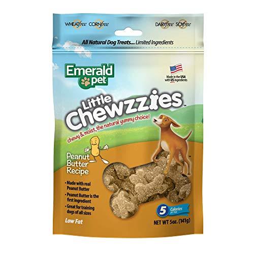Emerald Pet Little Chewzzies Soft Training Treat Peanut Butter Dog Treat 5 oz Bag