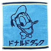 丸眞 ミニタオル ディズニー 25×25cm カタカナ ドナルド 無撚糸 使用 ジャカードタオル 2005075000
