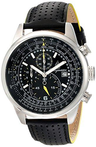 Burgmeister Burgmeister Melbourne - Reloj de Caballero de Cuarzo, Correa de Piel Color Negro (con cronómetro)