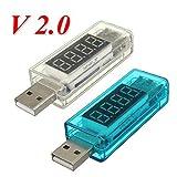 Generies DC 3-7.5V 0-5A V2.0 - Cargador de medidor de voltaje USB, color azul