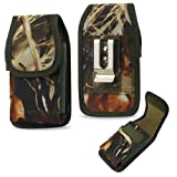 Camouflage Hunter Rugged Camo Case fits Yota Yotaphone 2 with a Cover on it.