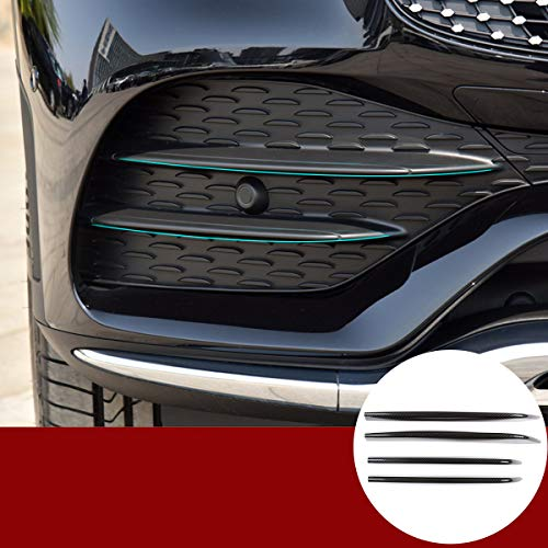 Zierstreifen für Nebelscheinwerfer, Karbonfaser, Lufteinlass, Kühlergrill, Zubehör, ABS für Benz GLC Klasse X253 2019 2020