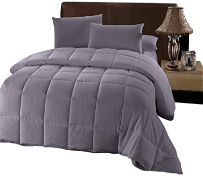 Royal Hotel Oversized King Down-Alternative Comforter - Duvet Insert, 100% Down Alternative Fill, Oversized-King, Gray