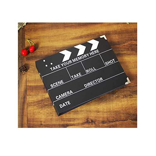 ASDWA Álbum de Fotos de Bricolaje Álbum de Fotos Creativo de Pasta Manual, Adecuado para Viajes, Parejas, Bodas 26x19cm