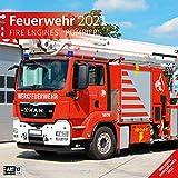 Feuerwehr 2021, Wandkalender / Broschürenkalender im Hochformat (aufgeklappt 30x60 cm) - Geschenk-Kalender mit Monatskalendarium zum Eintragen: Broschrenkalender.