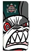 [HUAWEIP30] スマホケース 手帳型 ケース デザイン手帳 ファーウェイP30 8322-A. MAD TERRIER02グリーン かわいい 可愛い 人気 柄 ケータイケース ヌヌコ 谷口亮