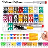 Fuse Assortment Kit,306pcs Car Boat Truck SUV Auto Automotive Assorted Replacement Blade Fuses Standard & Mini & Low Profile Mini-2A 5A 7.5A 10A 15A 20A 25A 30A 35A with Fuse Puller and Circuit Tester