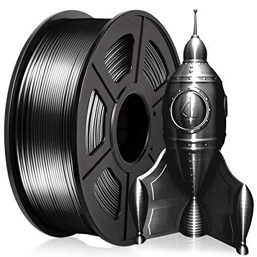 PLA 3D Printer Filament 1.75MM PLA Silk Filament 1KG for 3D Printer 3D Pen PLA Shiny Silky Black